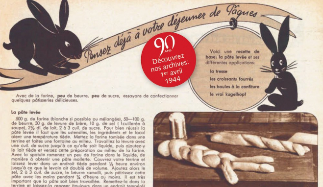 90 ans Echo: Archives avril 1944